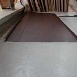 屋根葺き材。今回は立てハゼ(立て平)葺き。